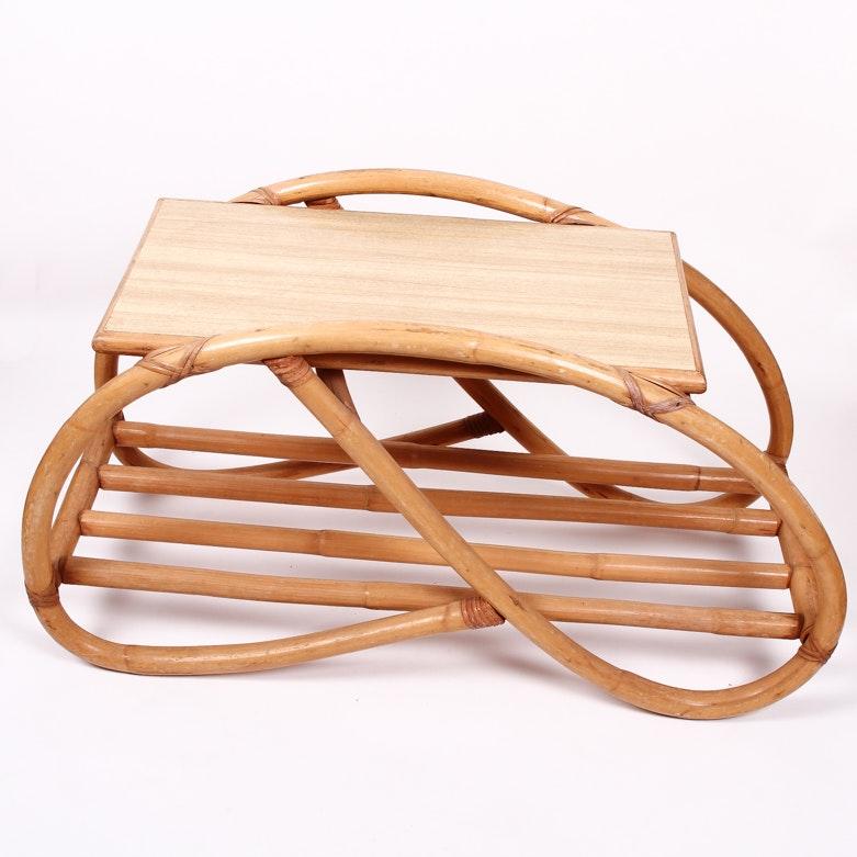 Vintage Bamboo Pretzel Coffee Table