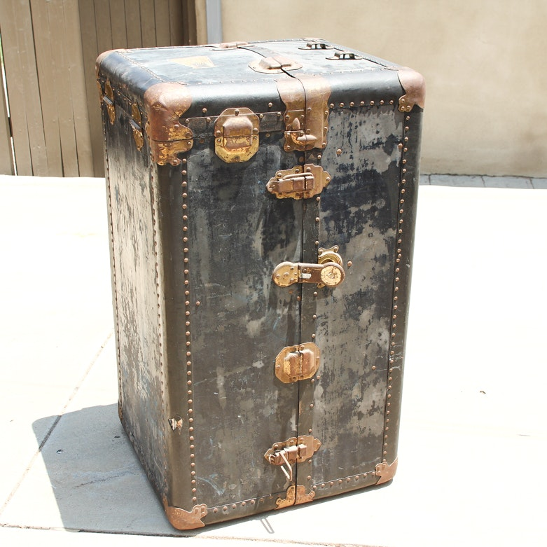 Antique Royalrobe Style Steamer Trunk