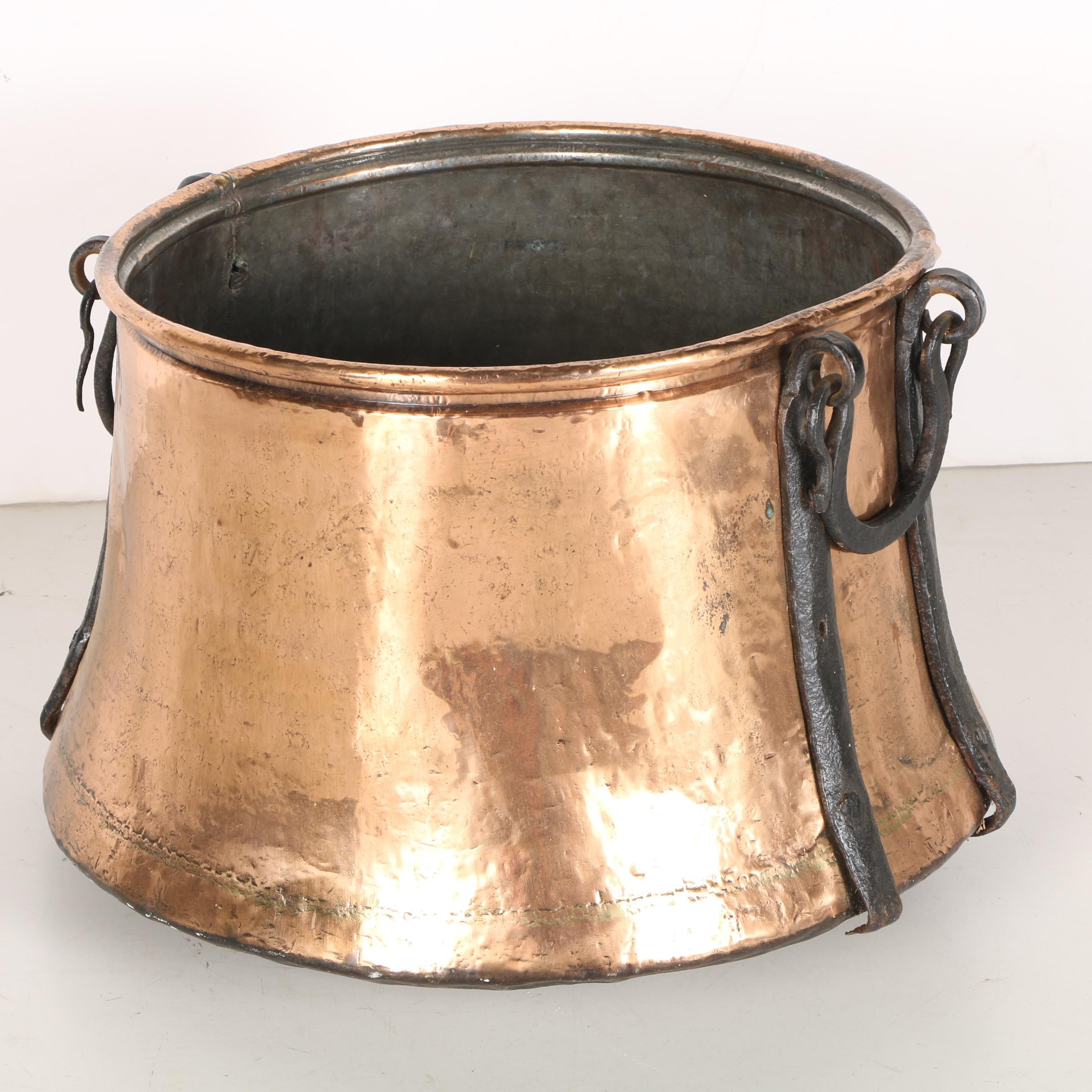 Copper Pot With Iron Handles