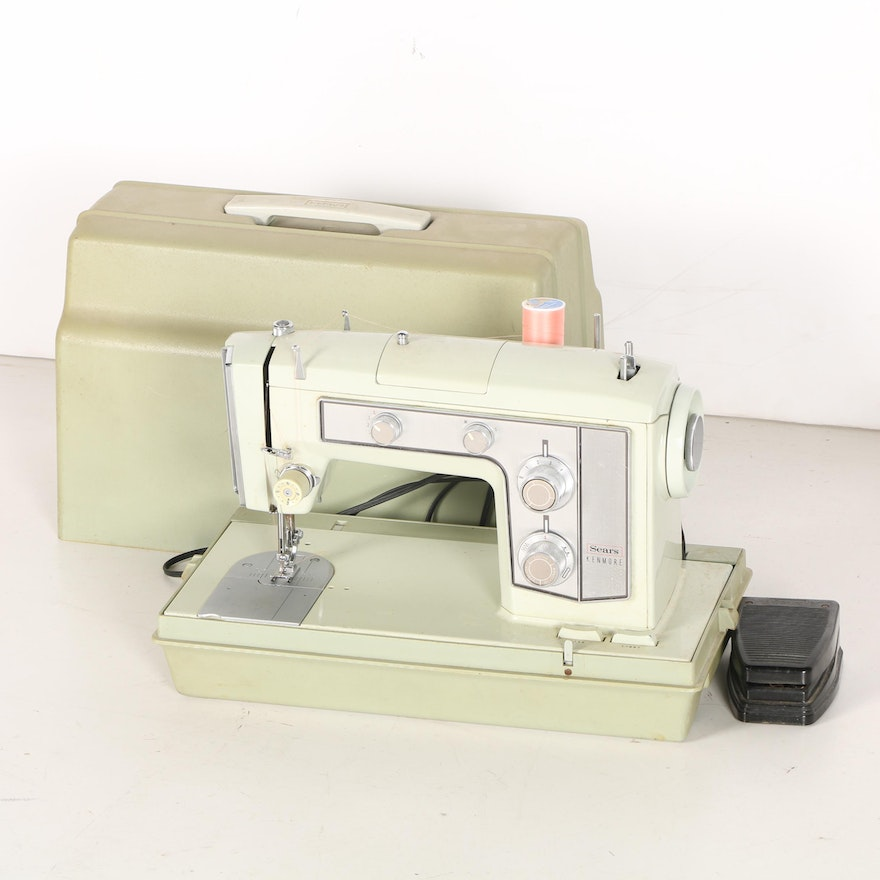 Sears Kenmore Sewing Machine With Accessories EBTH Extraordinary Kenmore Sewing Machine Accessories