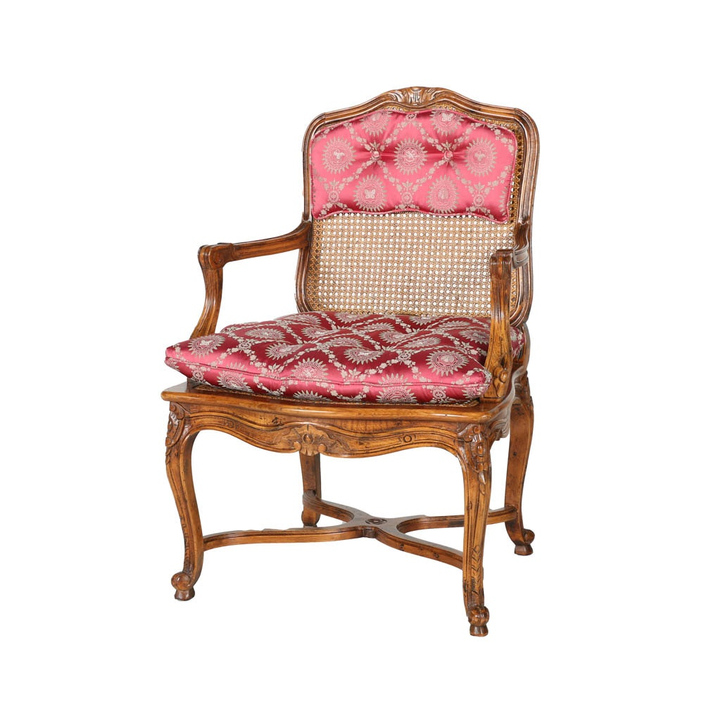 Provincial Louis XV Style Fauteuil by Century Chair Company