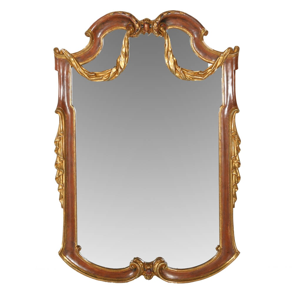 Trouvailles Furniture Gilt and Gesso French Style Wall Mirror