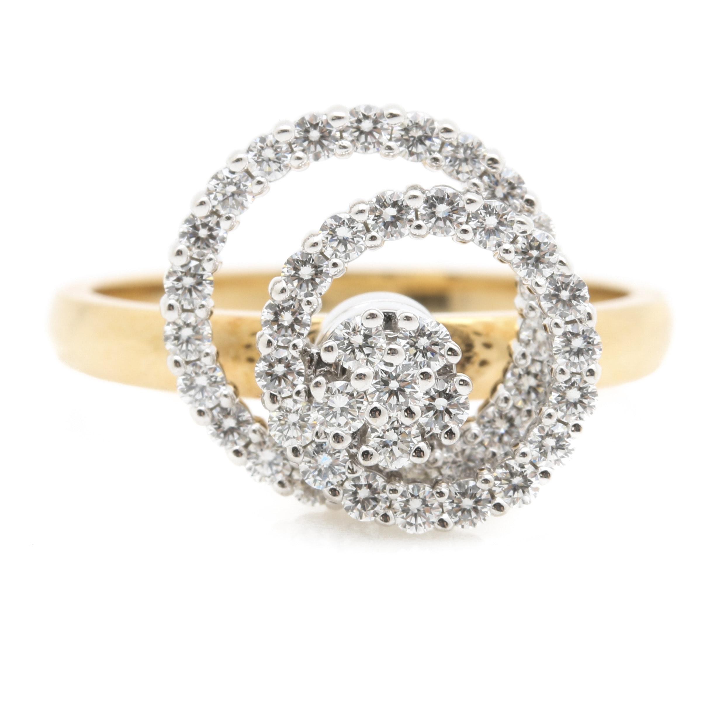 Swinger white gold ring