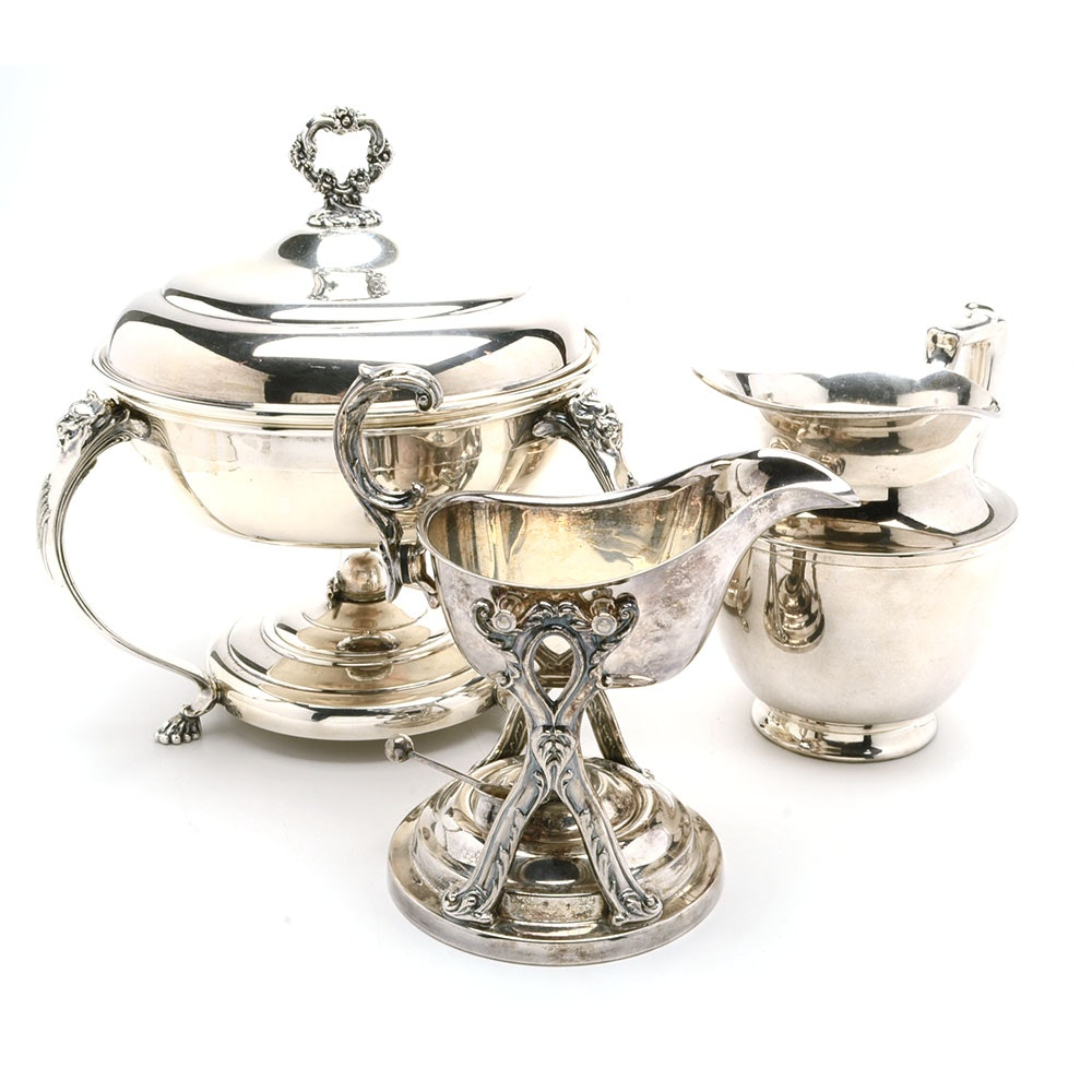 Three Silver Plated Hollowware Serving Items