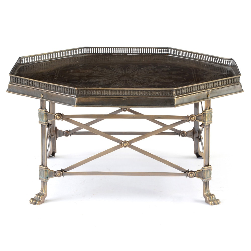 Arhaus Contemporary Octagonal Metal Coffee Table