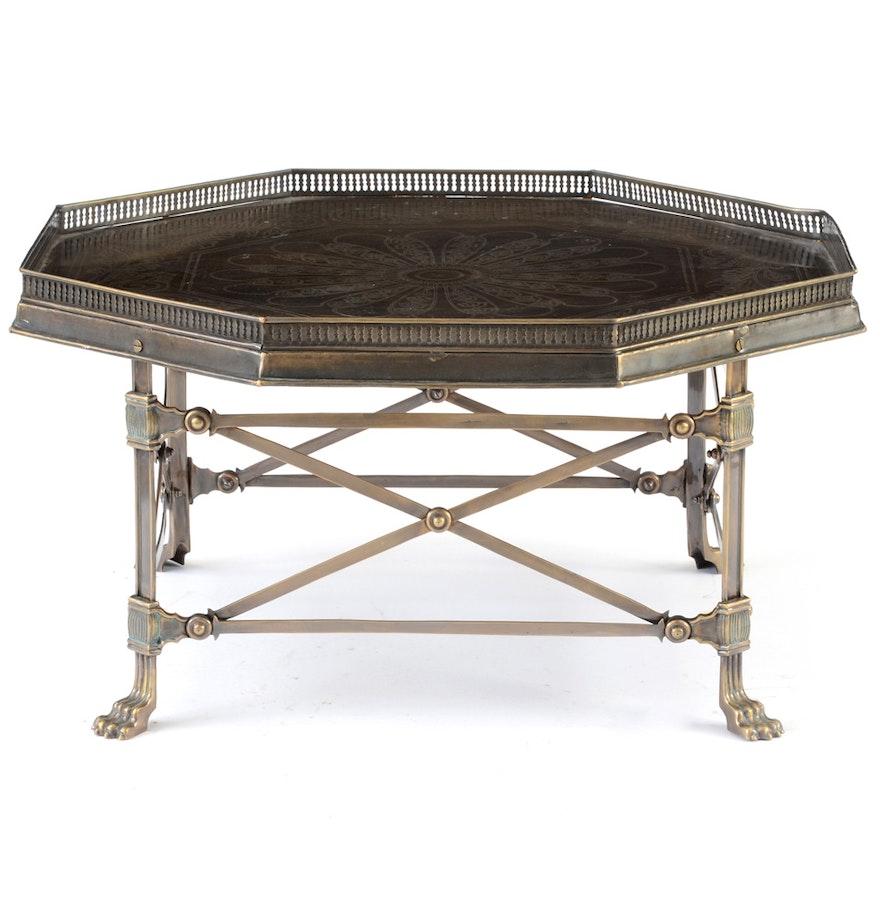 Arhaus Contemporary Octagonal Metal Coffee Table