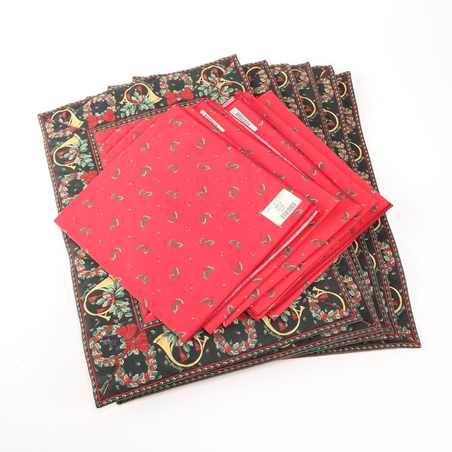 vera bradley christmas placemat and napkin set - Christmas Placemats And Napkins