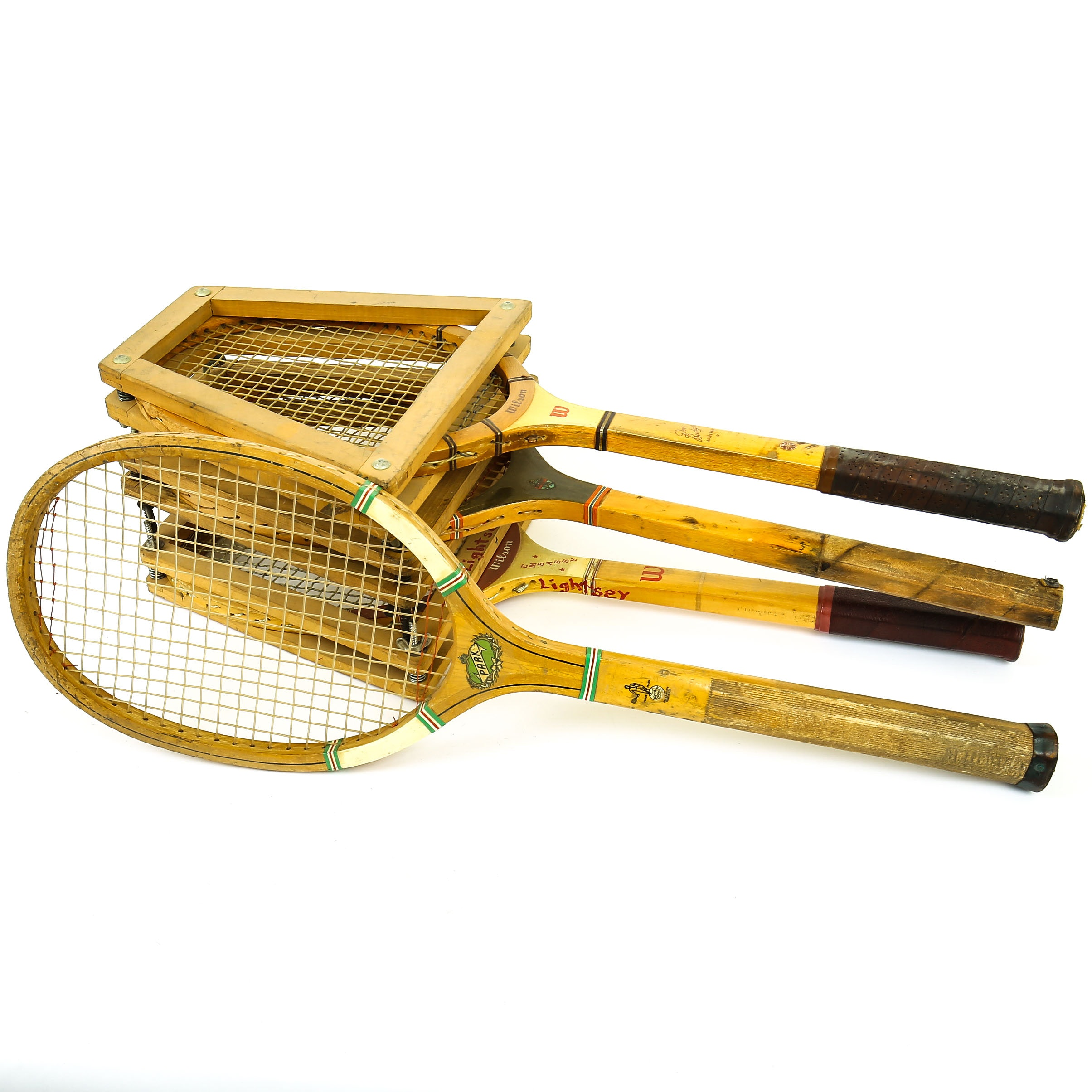Variety of Vintage Tennis Rackets