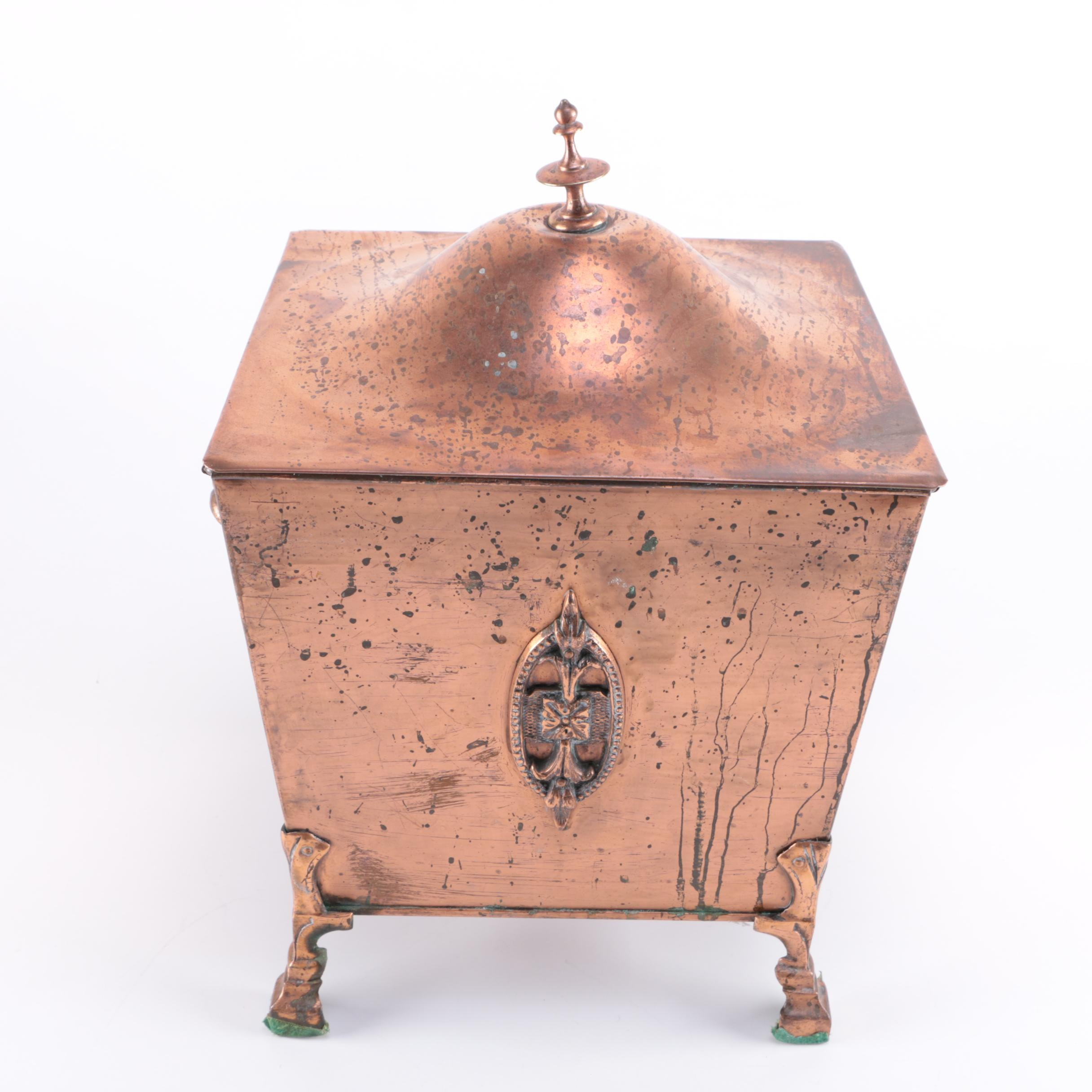 Copper Planter Box With Lid