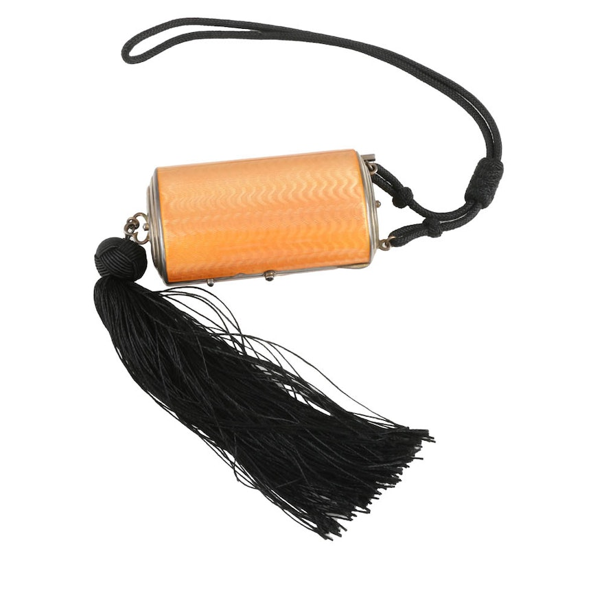 Early 20th Century Sterling Silver Minaudiere with Tassel