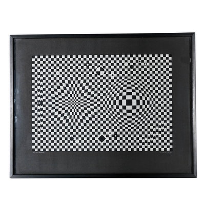 """Victor Vasarely Limited Edition Serigraph on Paper """"Vega"""""""