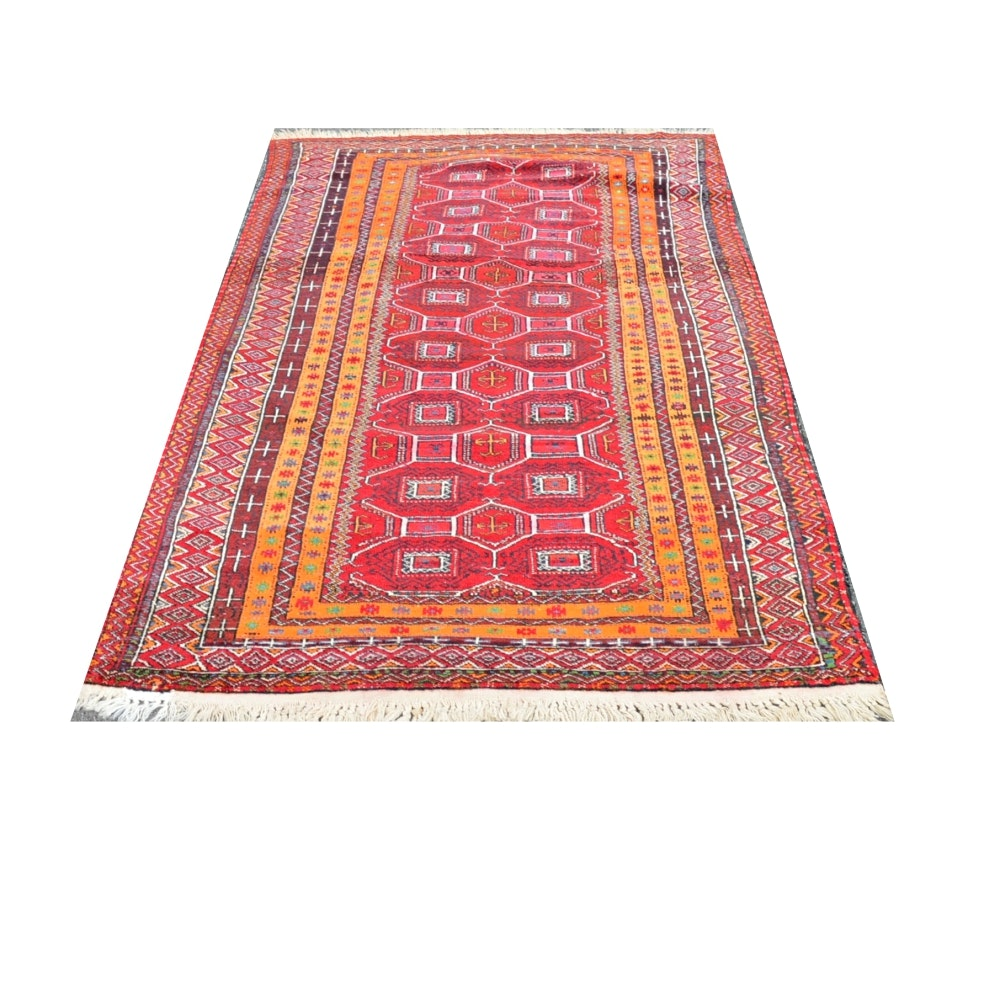 Hand-Knotted North African Wool Area Rug