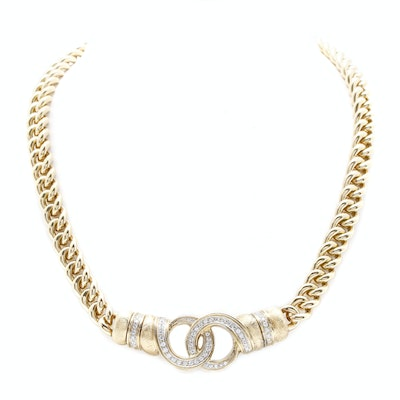 "Torinni 18K Yellow Gold Diamond ""Insieme"" Necklace"