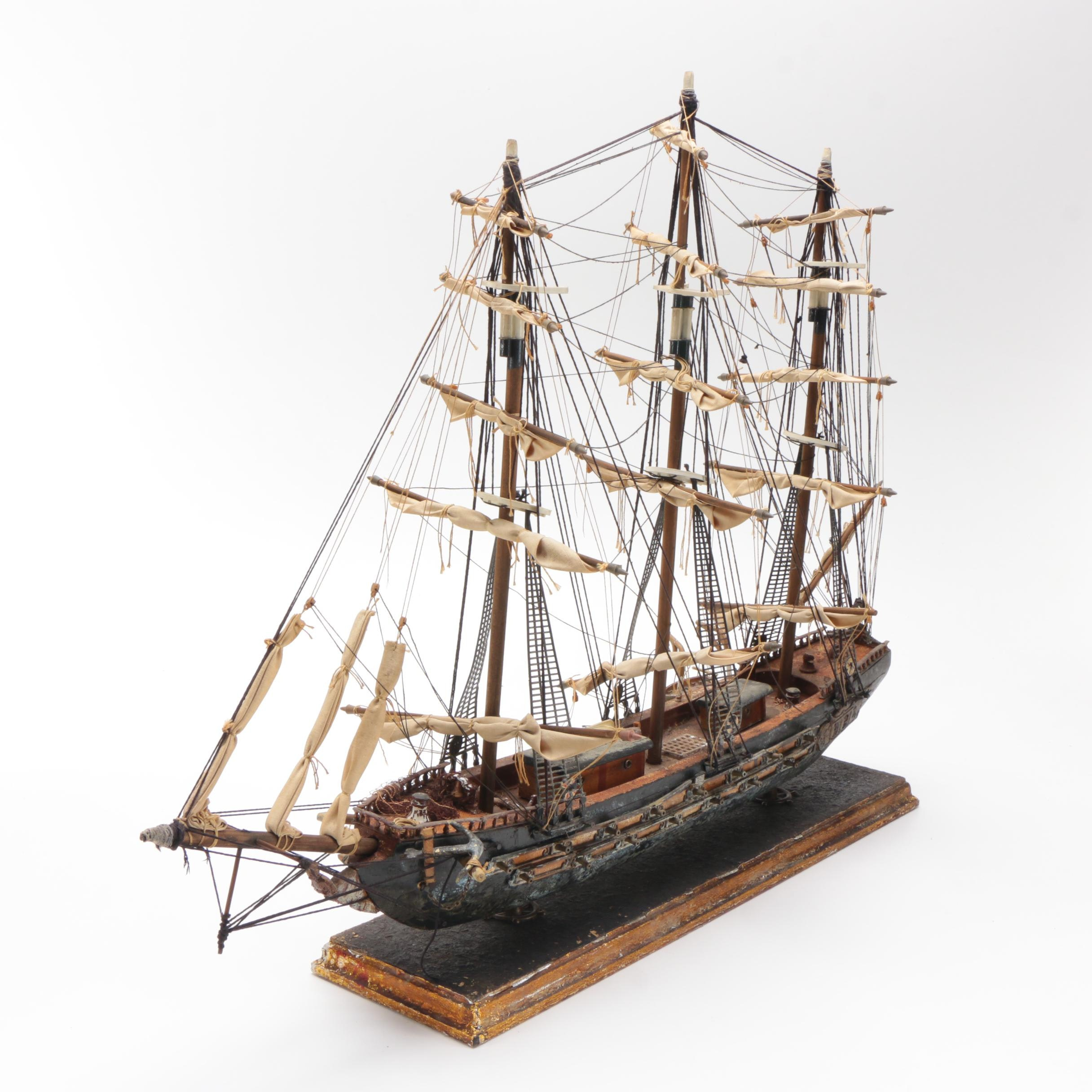 18th Century Spanish Frigate Model
