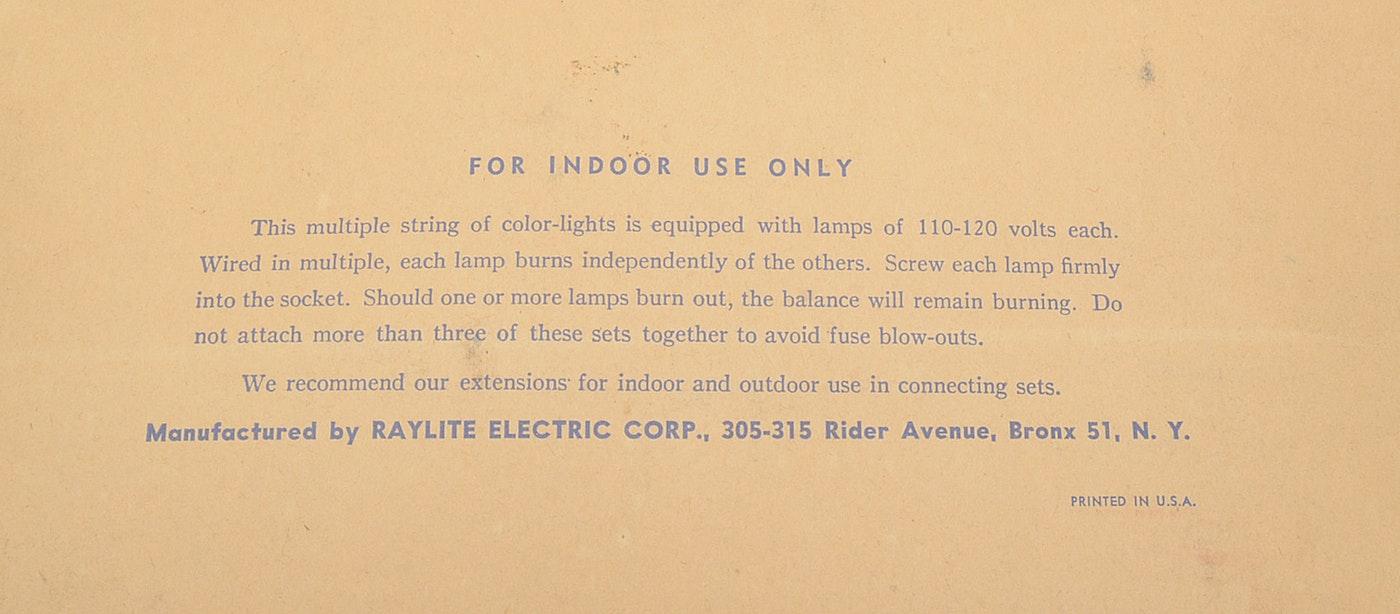Vintage Strands Of Christmas Lights Including Noma
