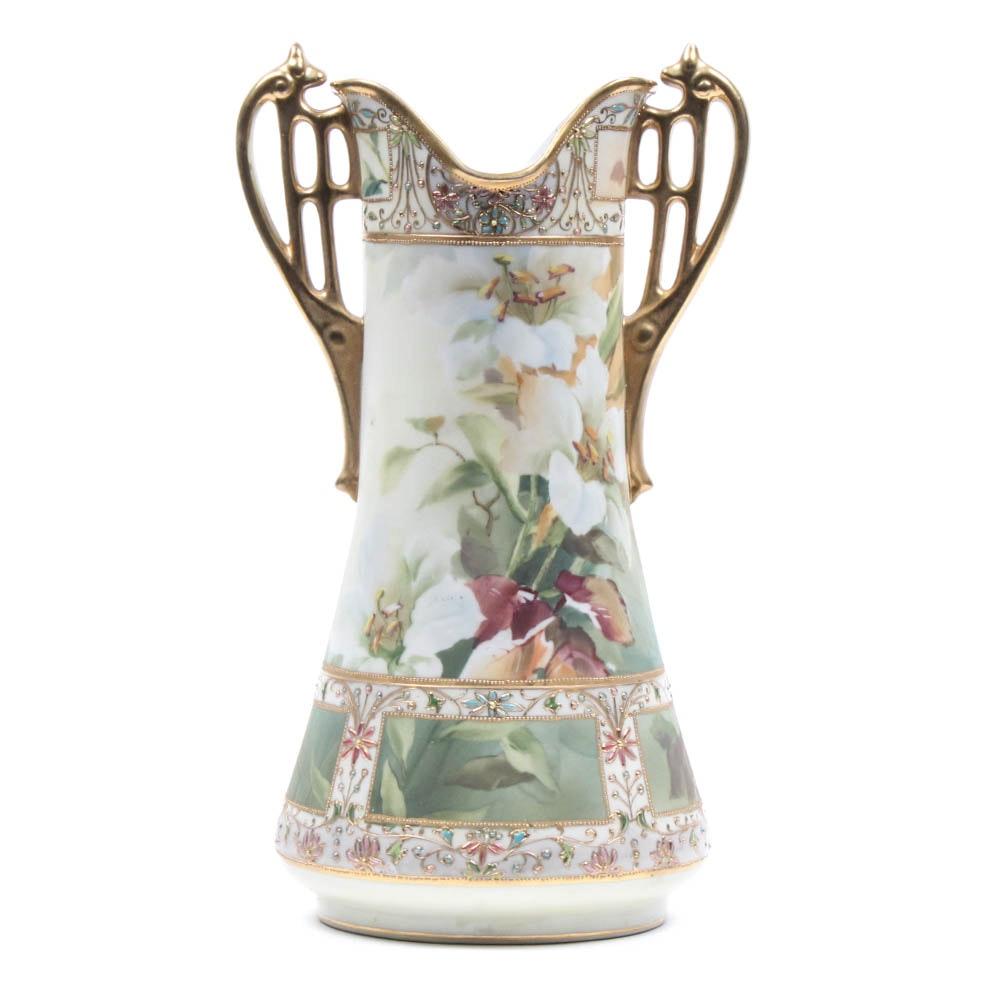 Nippon Hand-Painted Vase