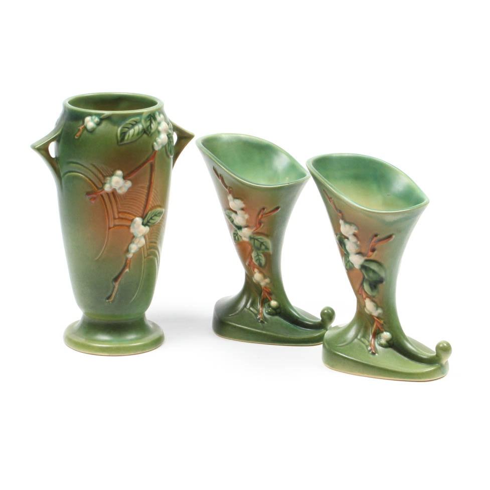 "Roseville Green ""Snowberry"" Pottery"