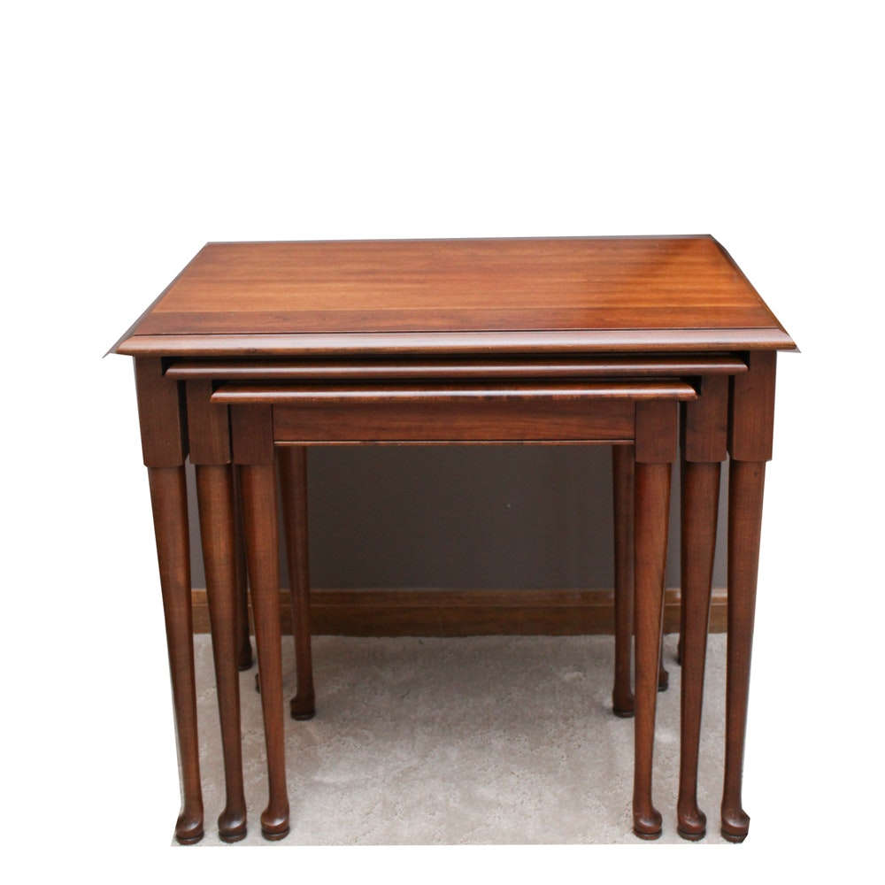 Queen Anne Style Cherry Nesting Tables ...