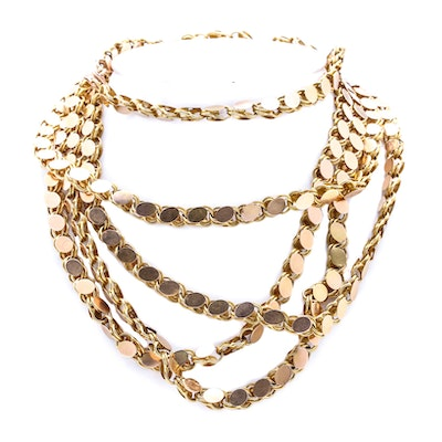 14K Yellow Gold Chain Link Necklace