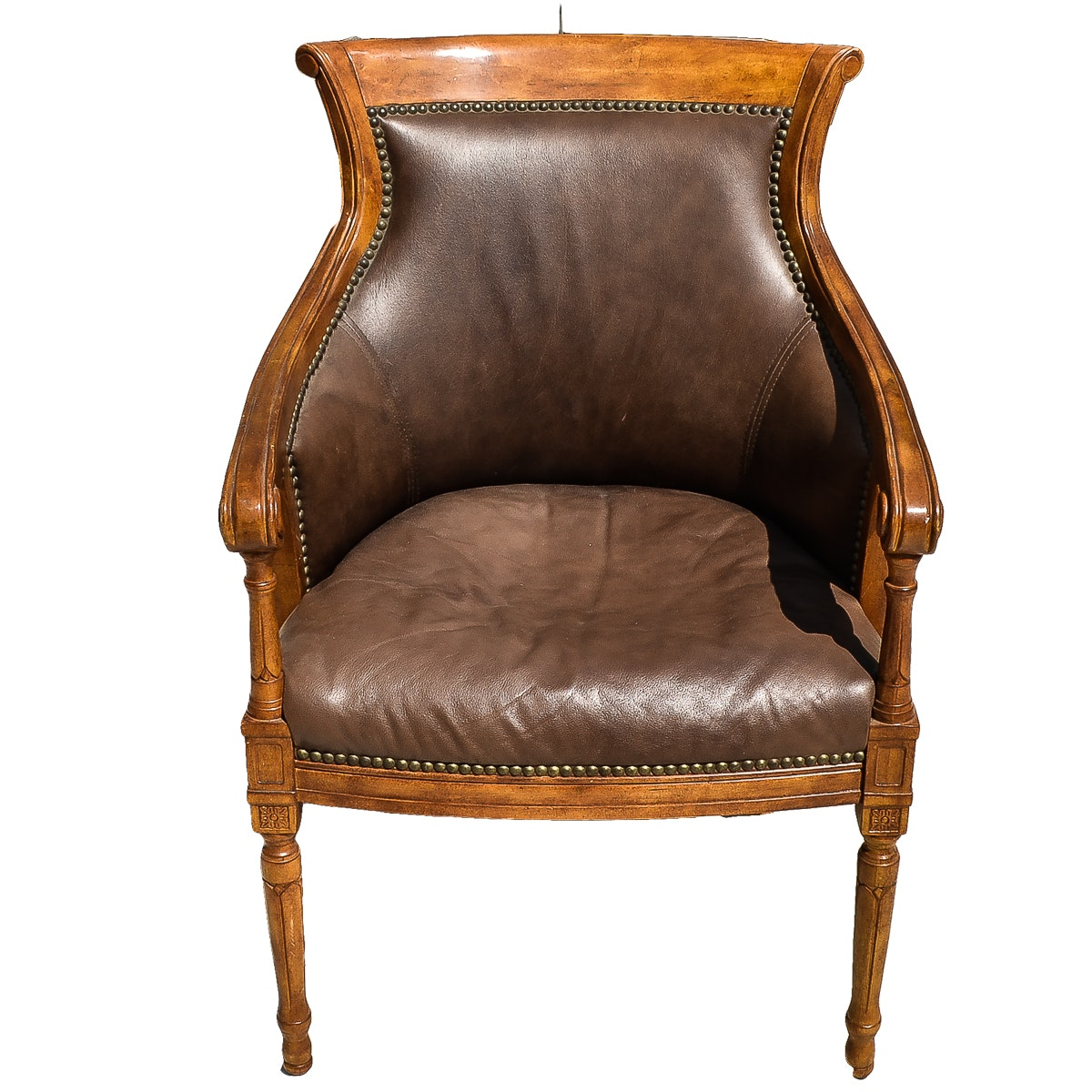 French Neoclassical Style Bergère