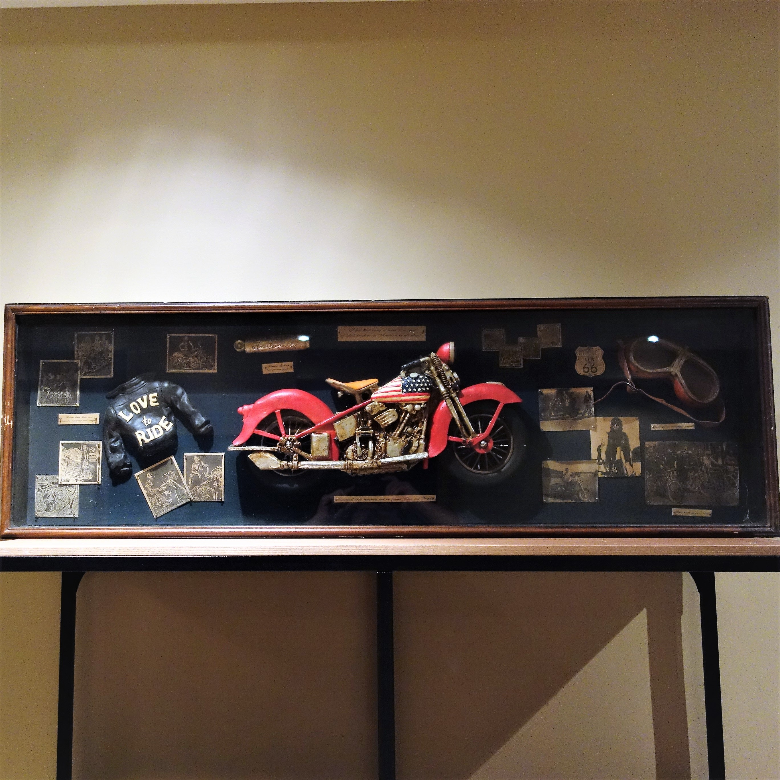 Motorcycle Themed Shadow Box