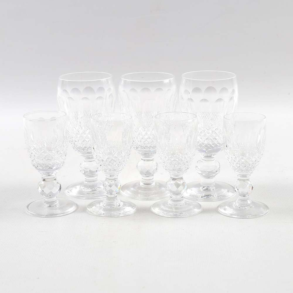 "Waterford ""Colleen"" Crystal Wine Stems and Cordials"