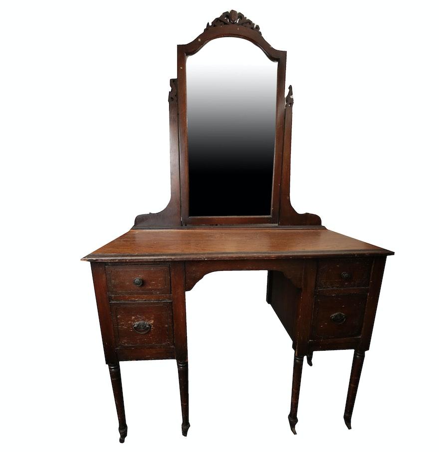 vintage vanity desk with mirror. Vintage Vanity Desk and Mirror by Helmers  EBTH