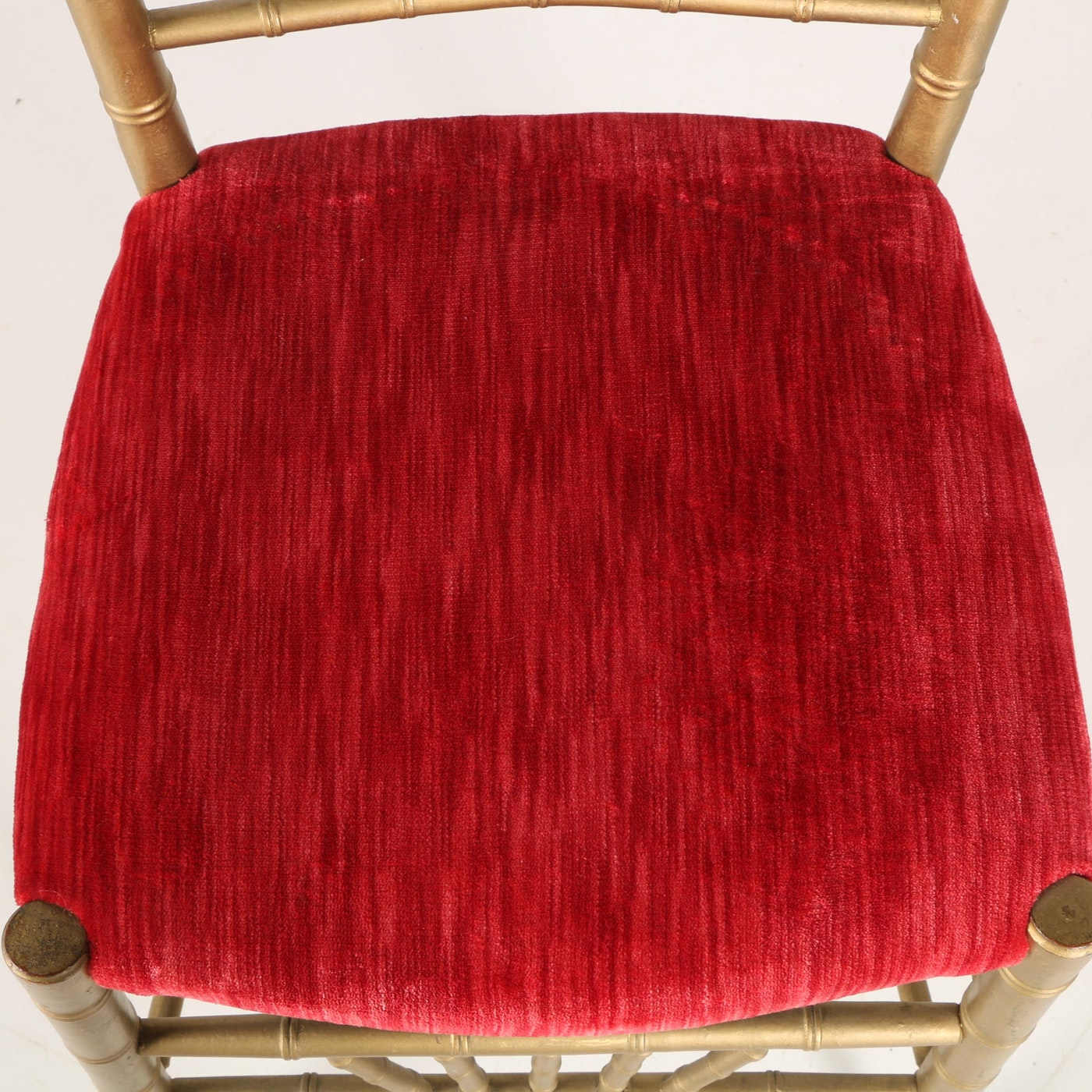 Regency Style Side Chair With Velvet Seat Ebth