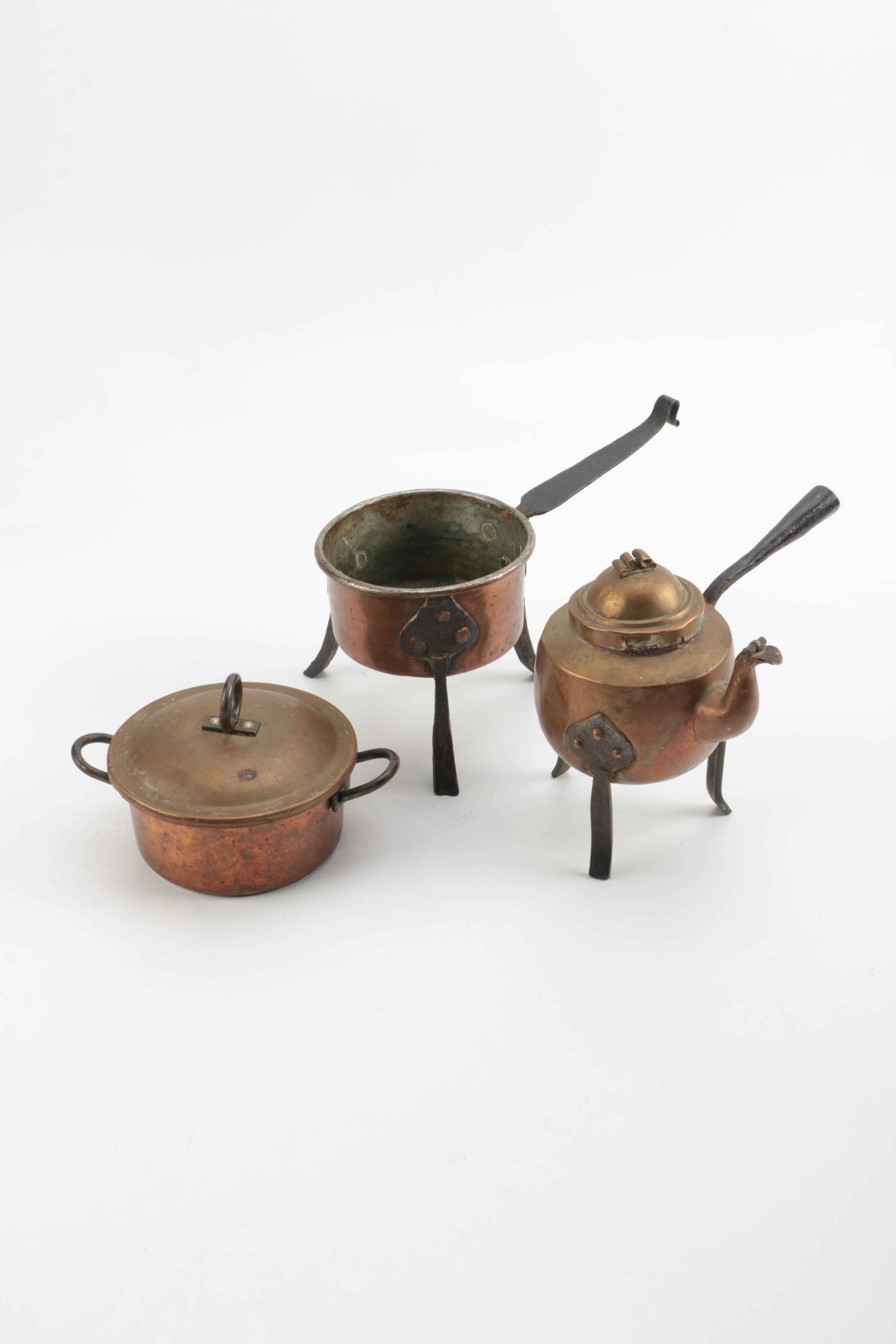 Collection of Copper Decorative Serving Ware