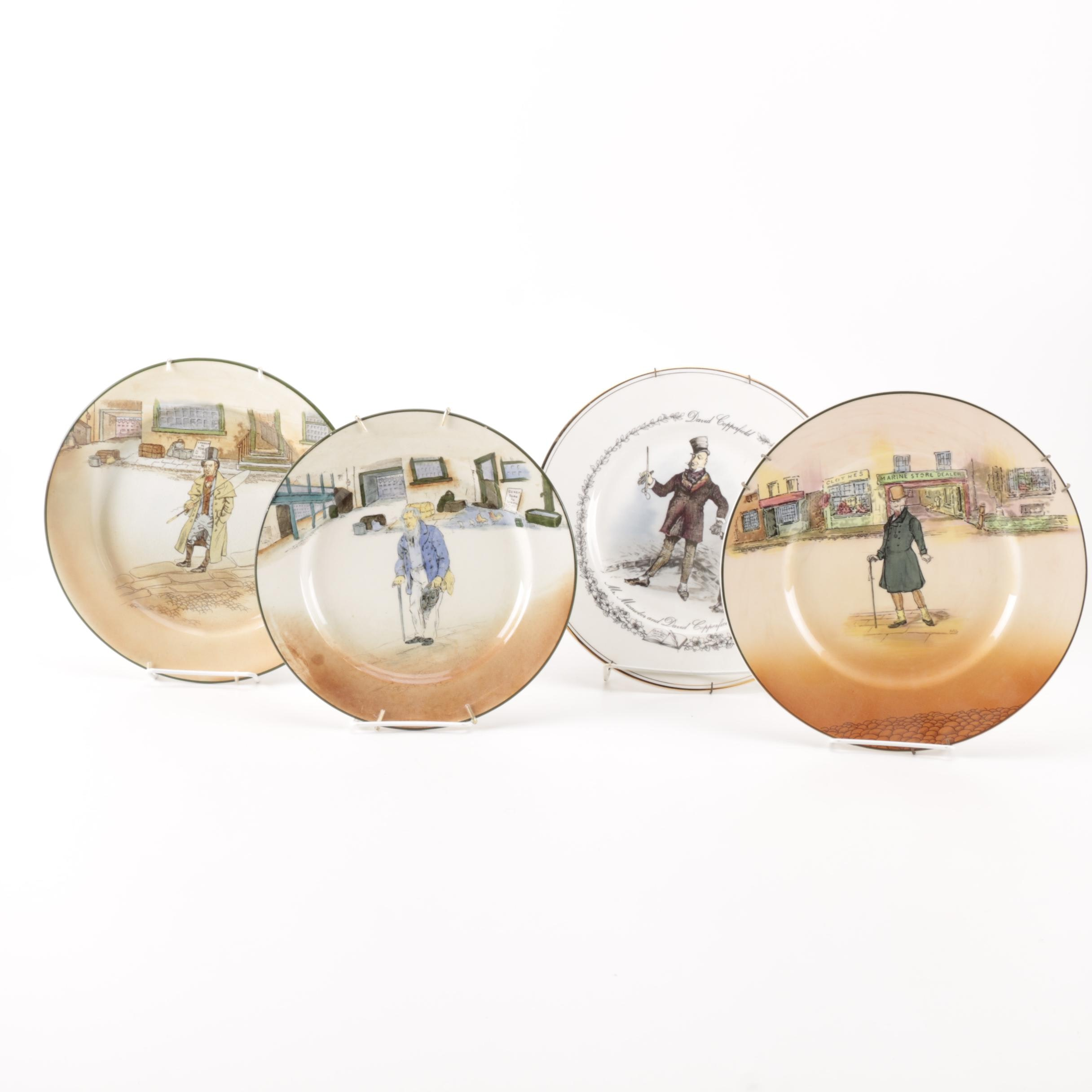 "Royal Doulton Dickens Ware Collector's Plates of ""David Copperfield"" Characters"