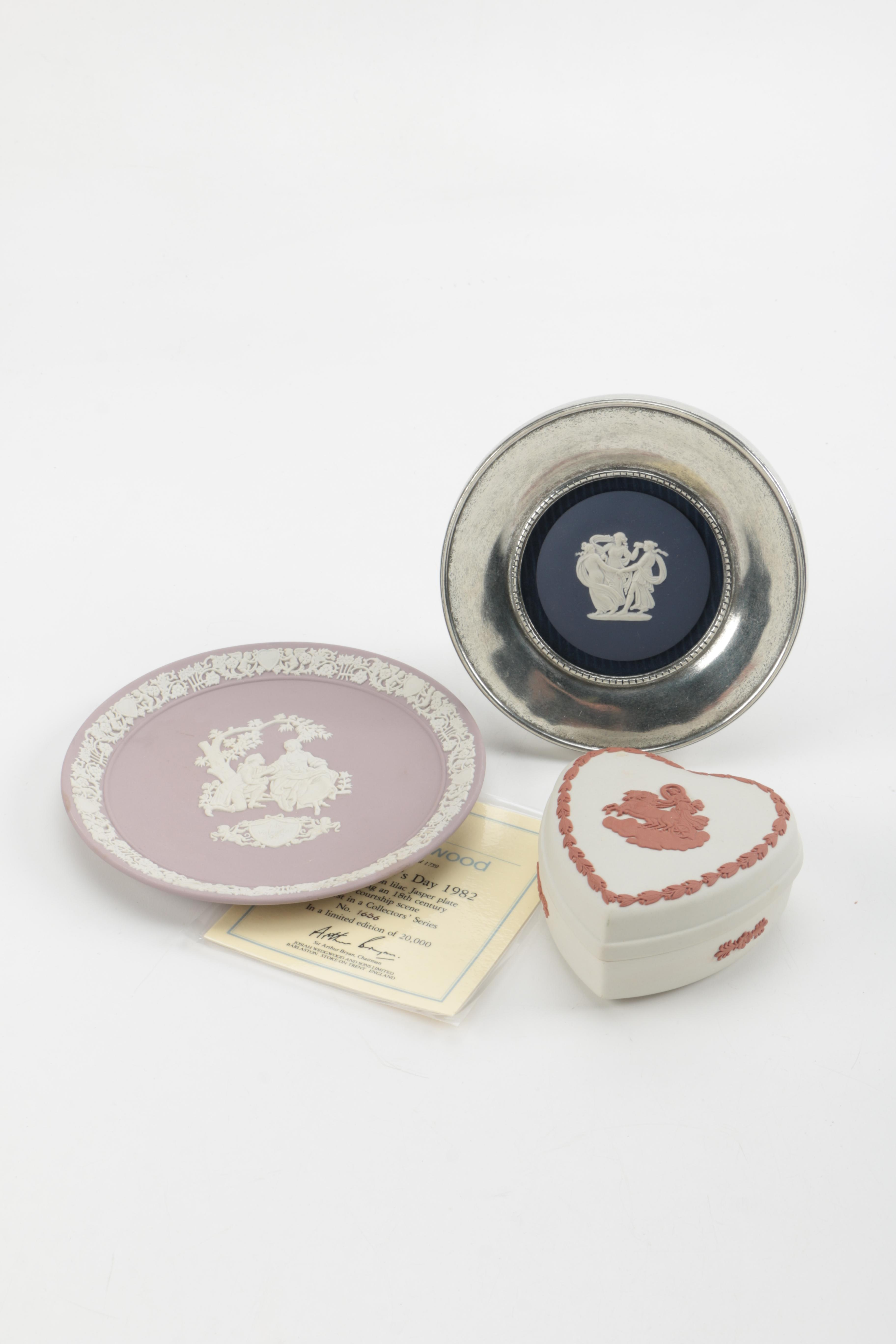 Collection of Wedgwood Plates and Heart Shaped Trinket Dish
