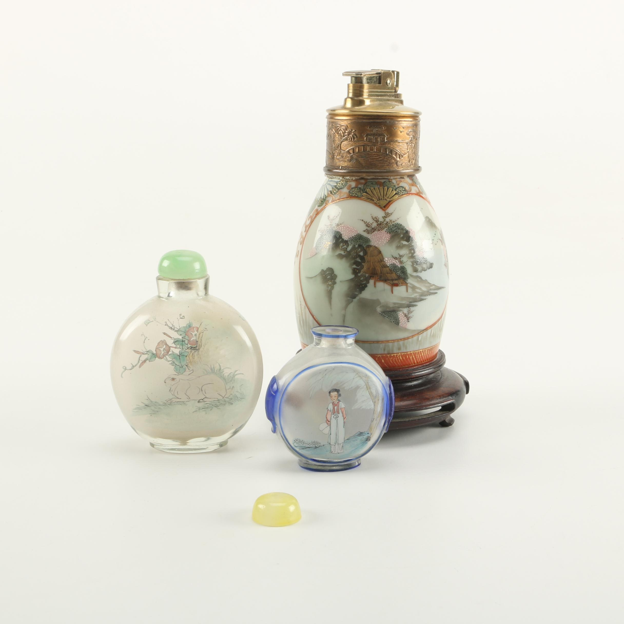 Chinese Snuff Bottles with Japanese Lighter