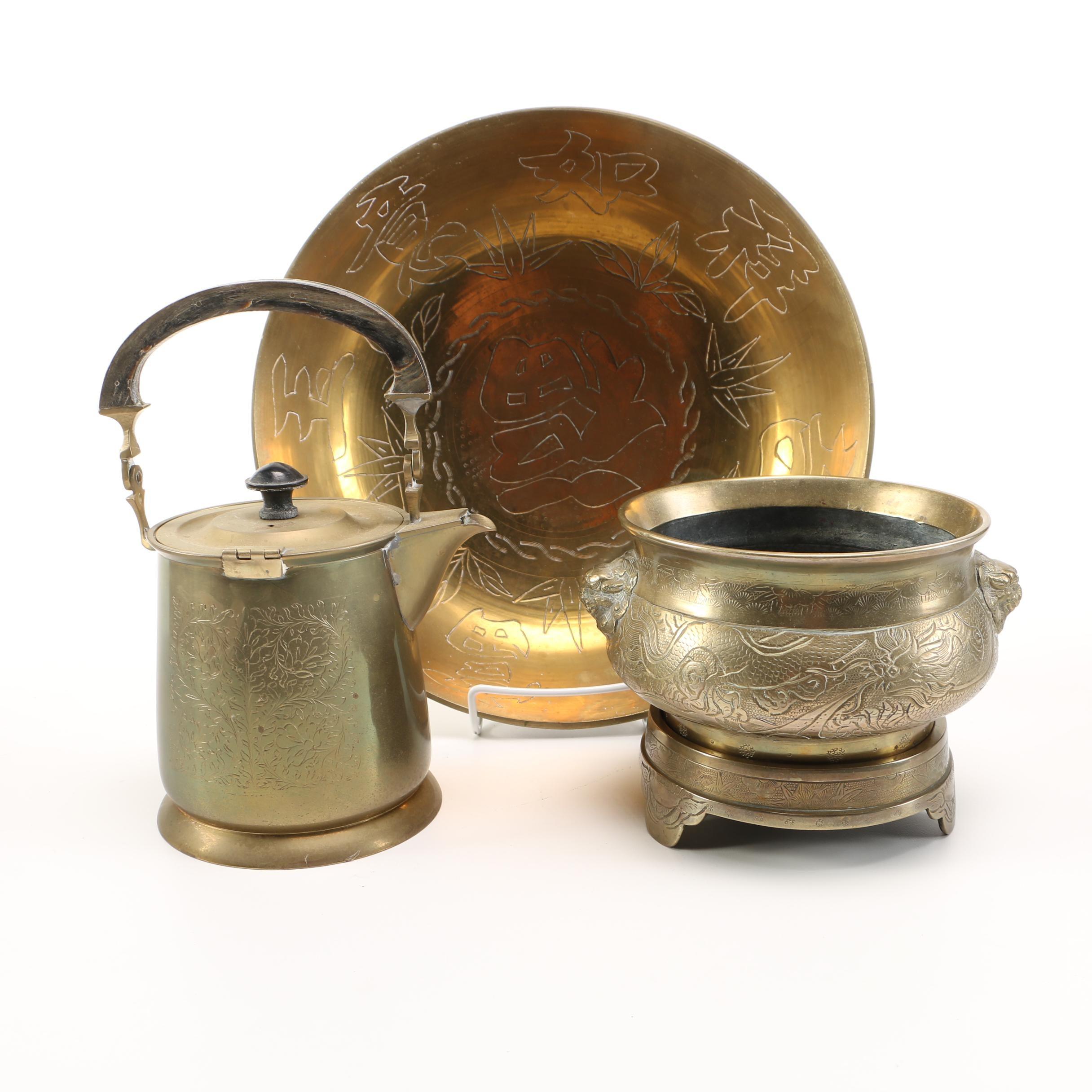 Chinese Brass Servingware