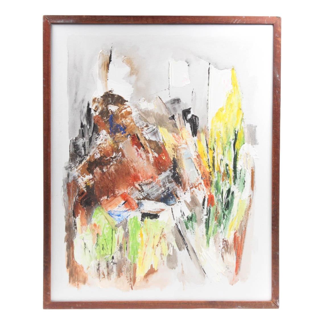 "Gay Badenoch ""Mountainside"" Original Acrylic on Canvas"
