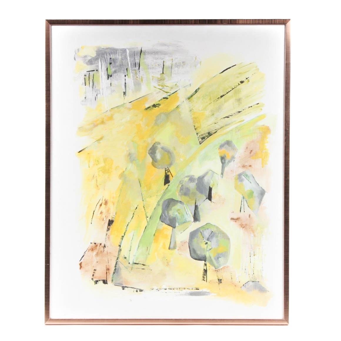 "Gay Badenoch ""Spring Awakening"" Original Oil Painting"