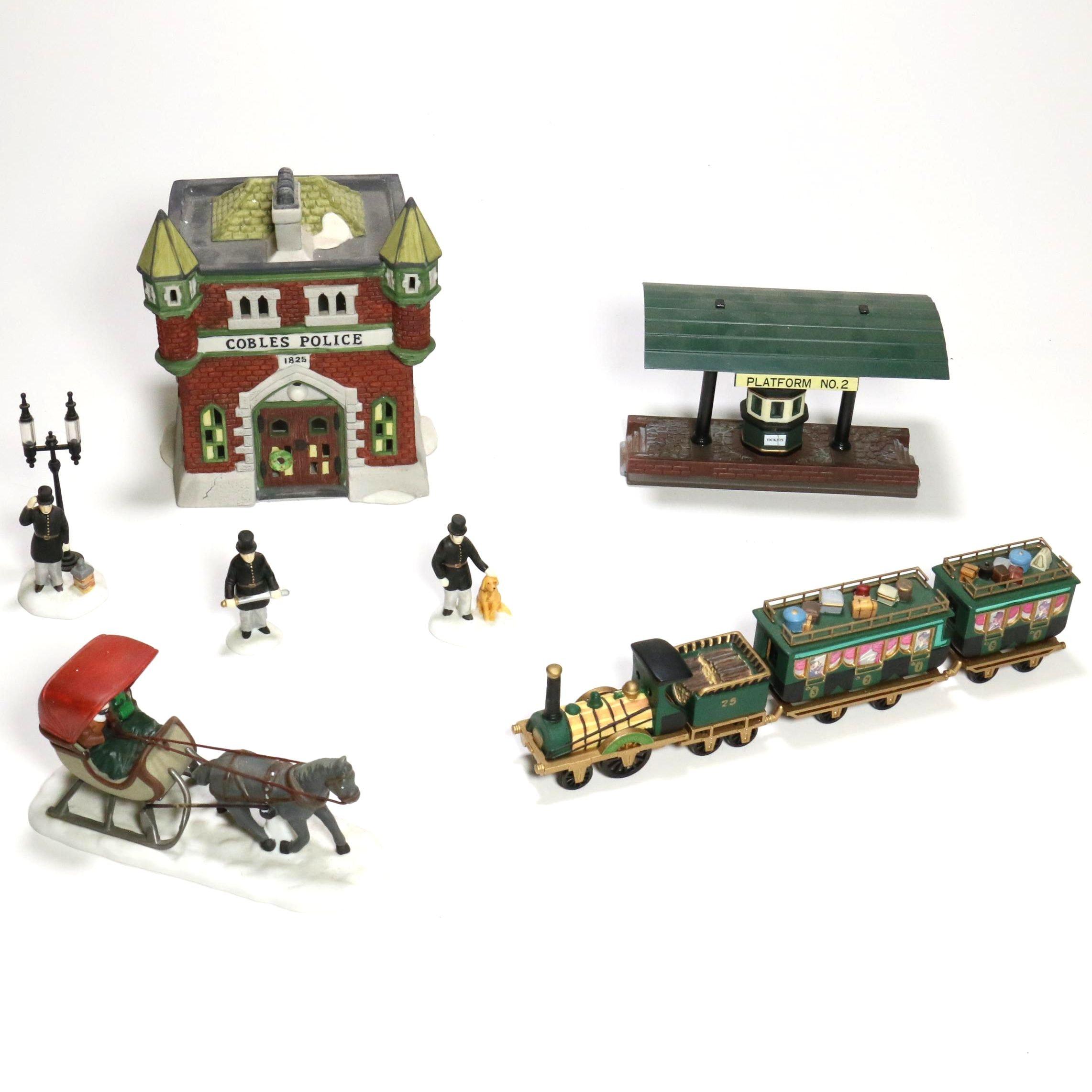 """Collection of Department 56 """"Heritage Village"""" Porcelain Seasonal Décor"""