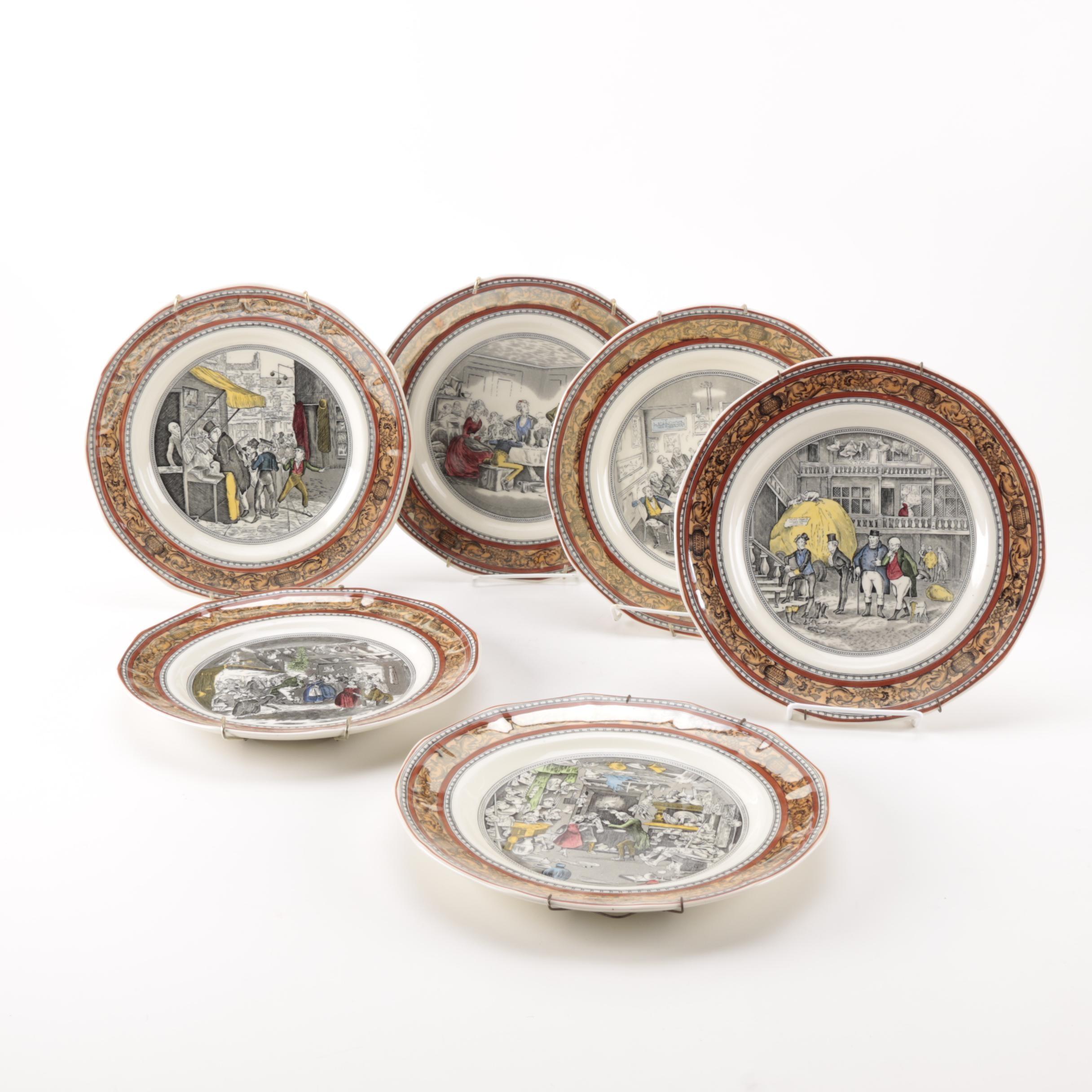 Charles Dickens Ironstone Plates