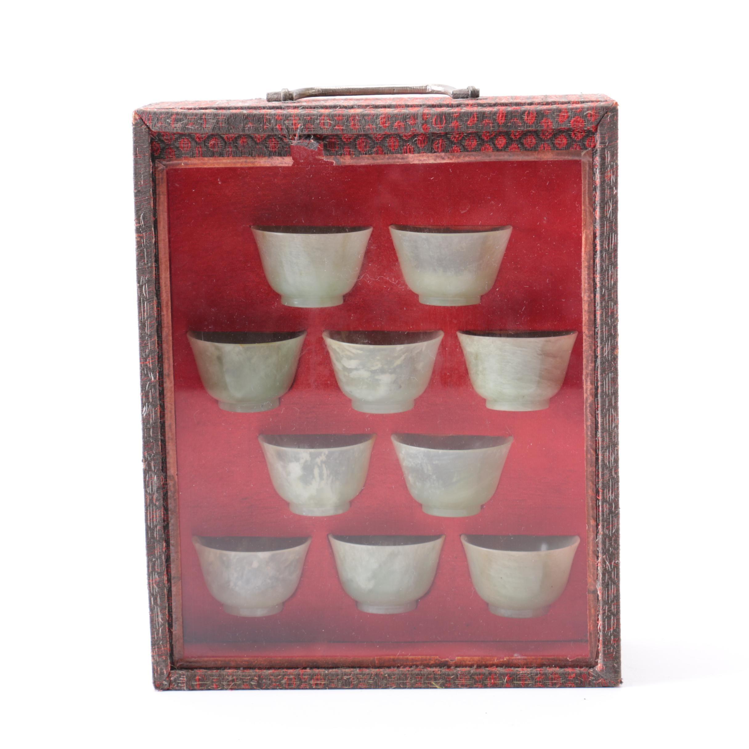 19th Century Chinese Bowenite Bowls