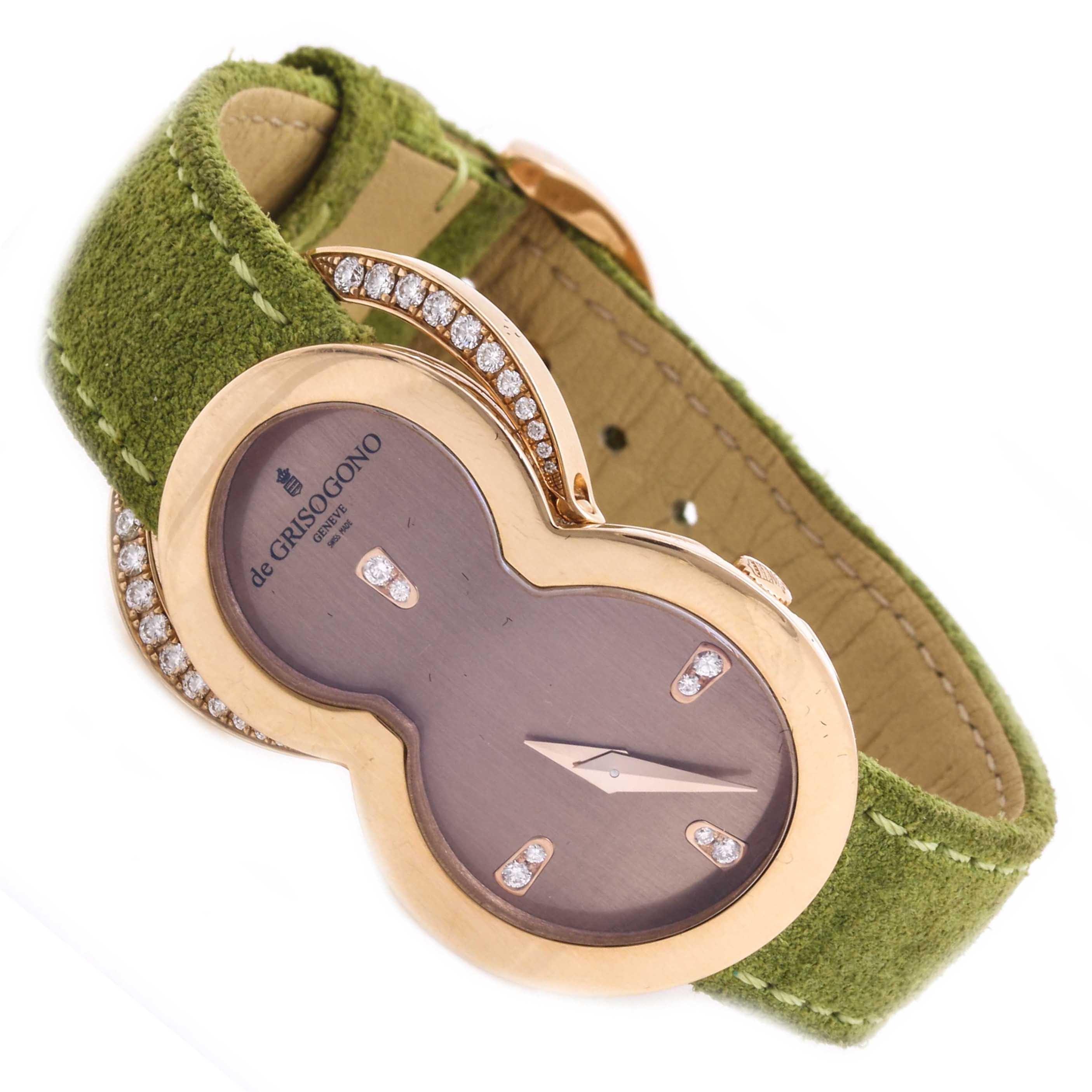 de GRISOGONO Be Eight 18K Rose Gold Diamond Wristwatch