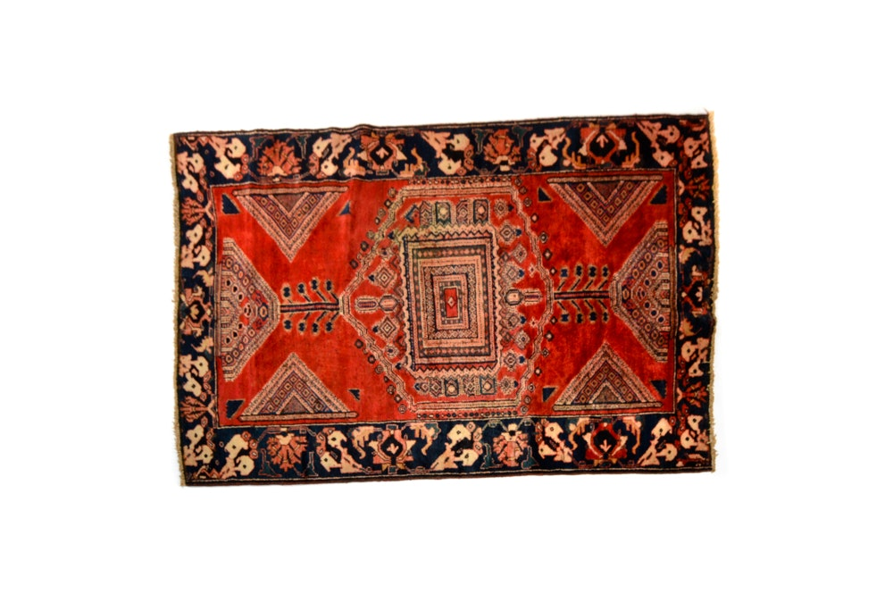 Hand-Knotted Contemporary Persian Area Rug