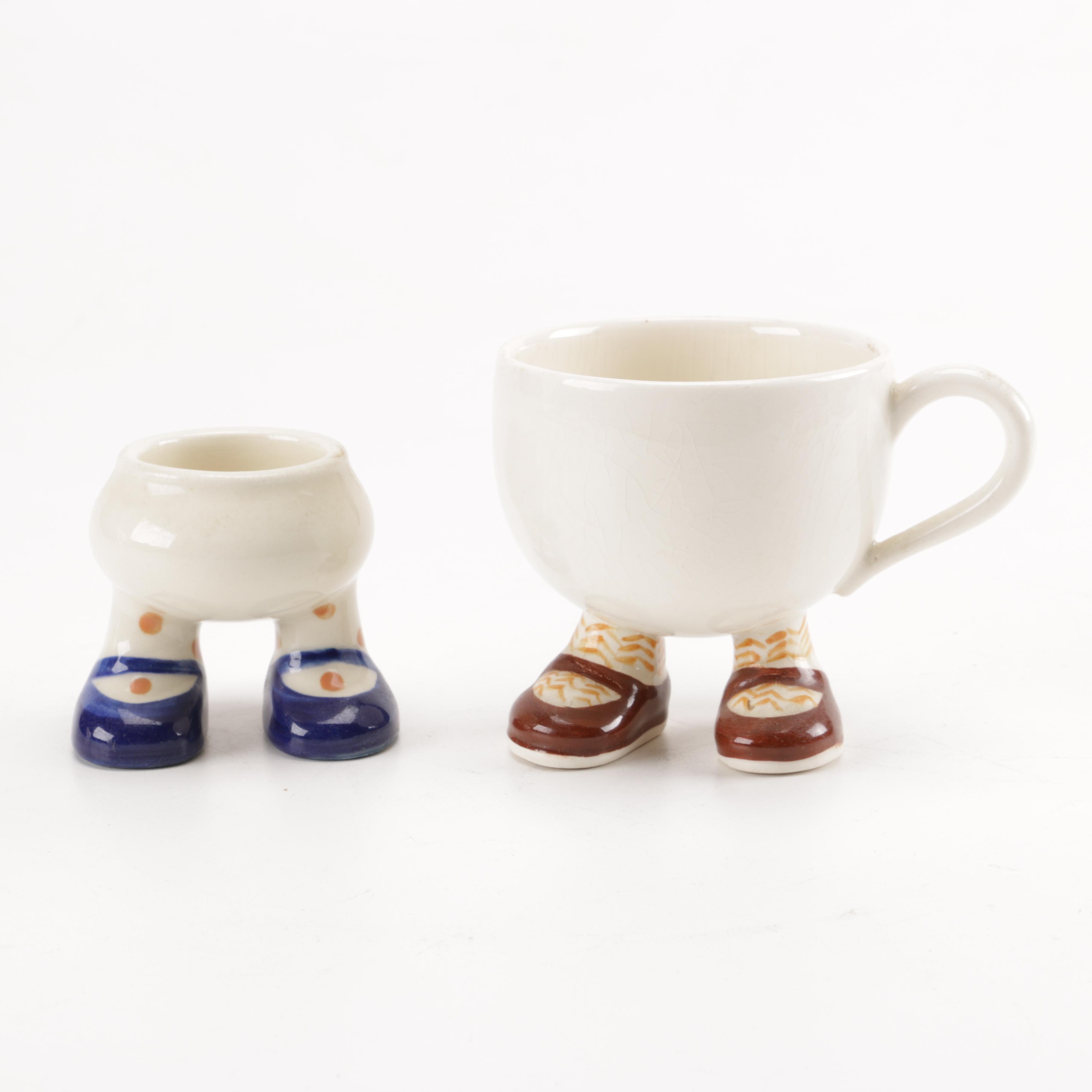 Vintage Carlton Walking Ware Egg Cup and Teacup