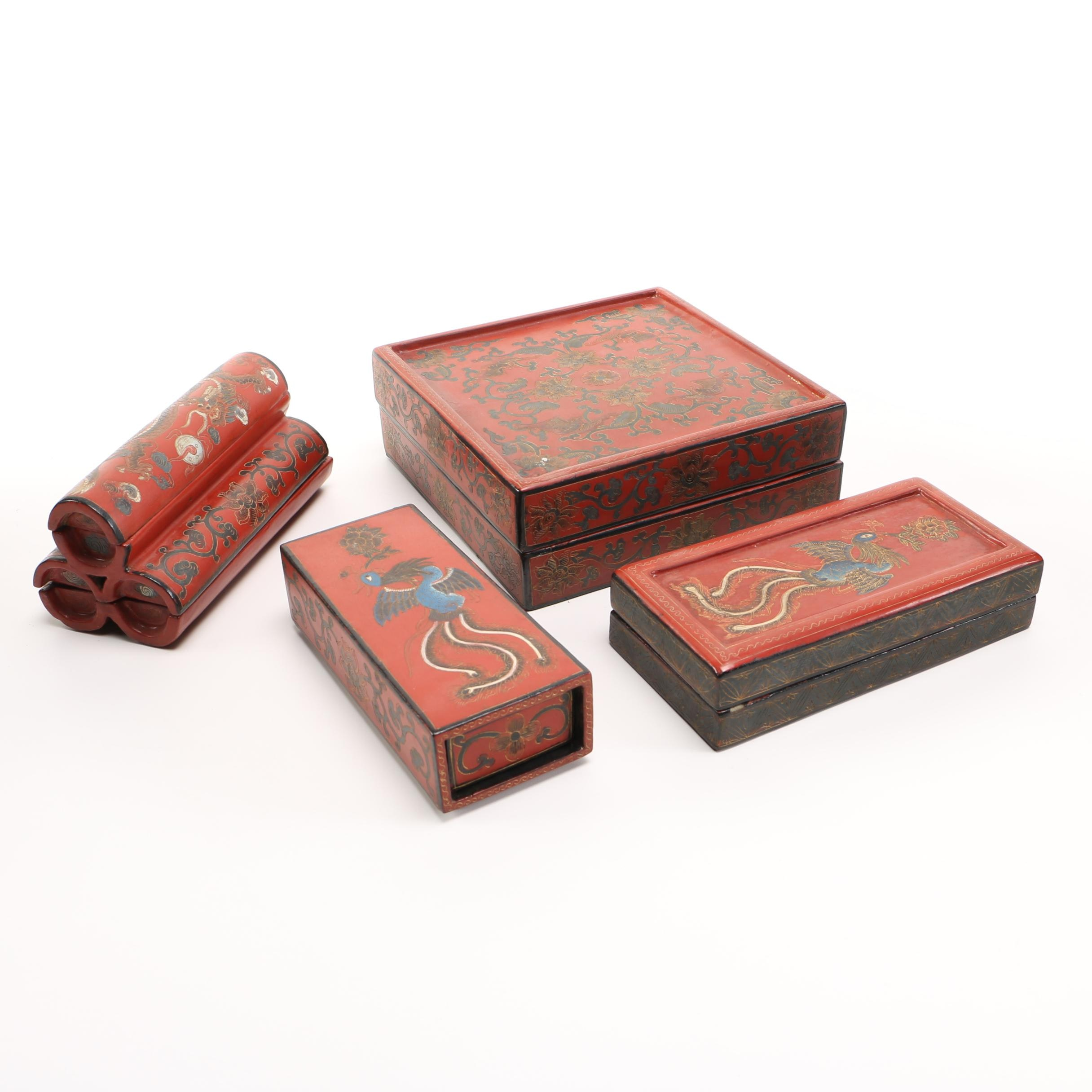 Asian Inspired Trinket Boxes