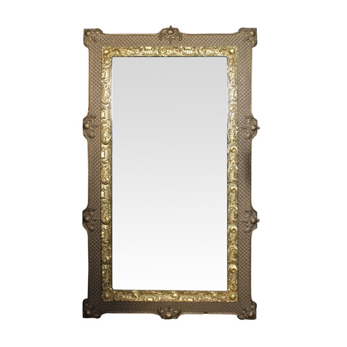 Ornate Gold Tone Wood Framed Mirror