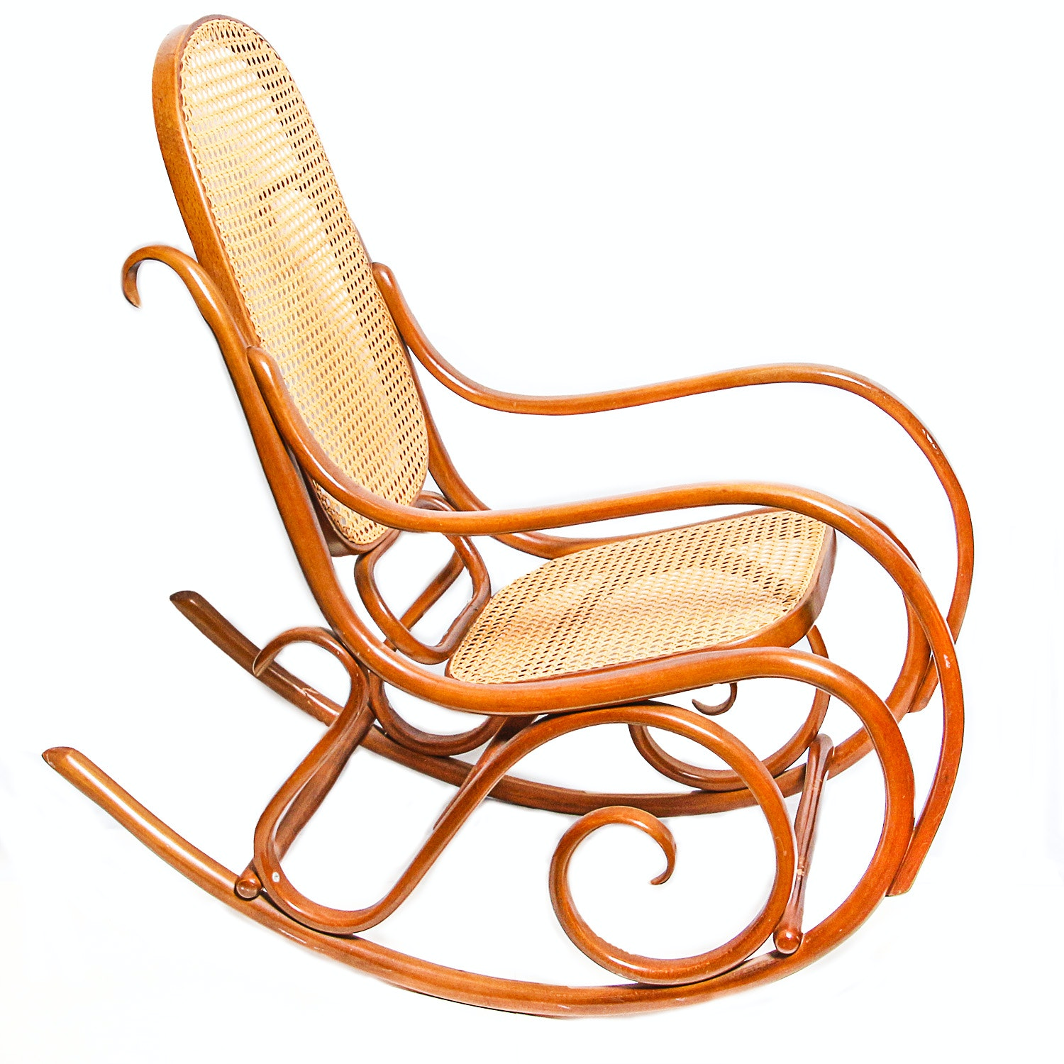 Bentwood and Cane Rocking Chair
