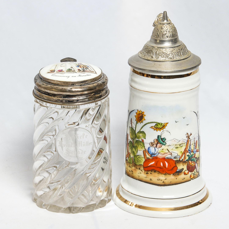 Pair of Vintage German Beer Steins
