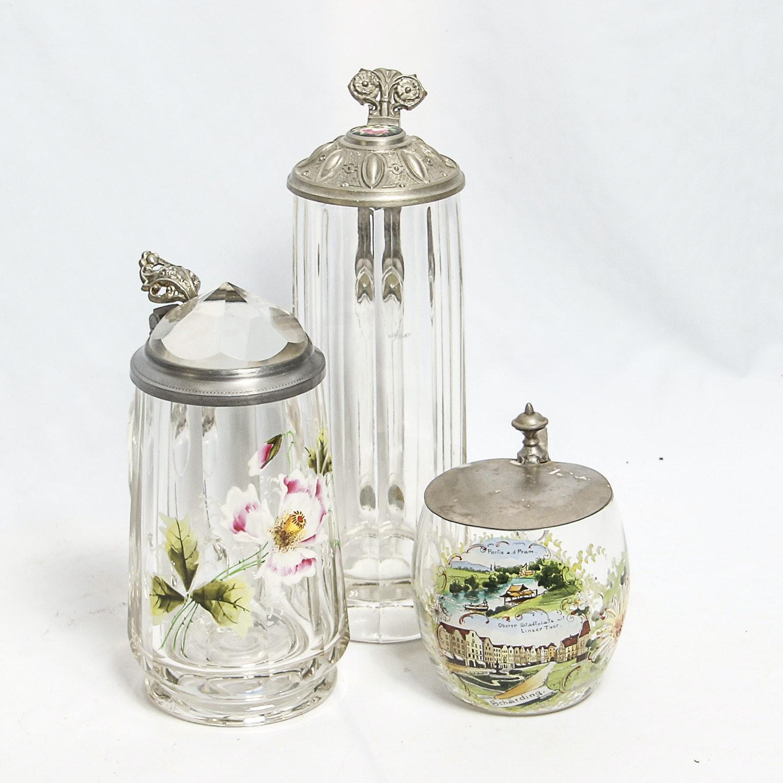 Vintage German Glass Steins
