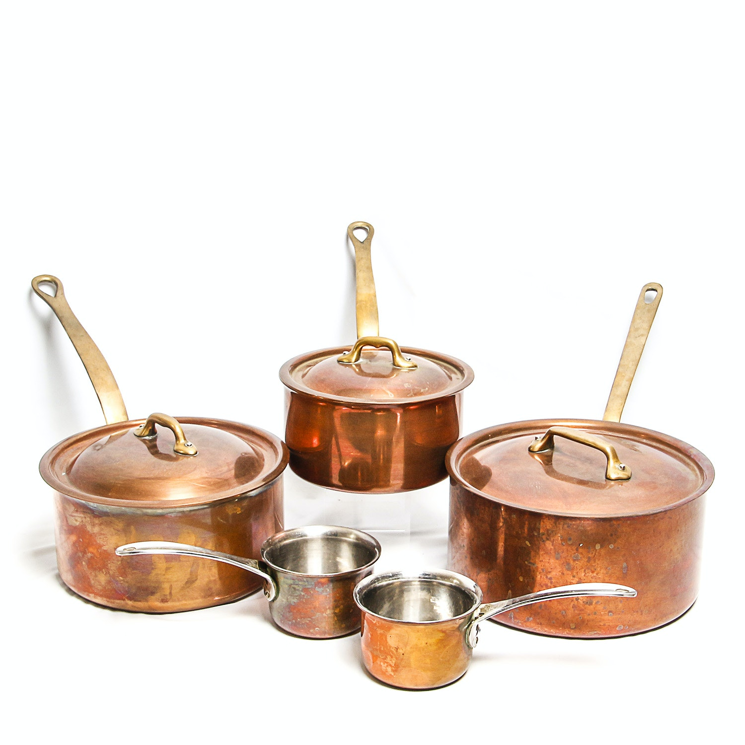 Williams-Sonoma and Dansk Copper Sauce Pans