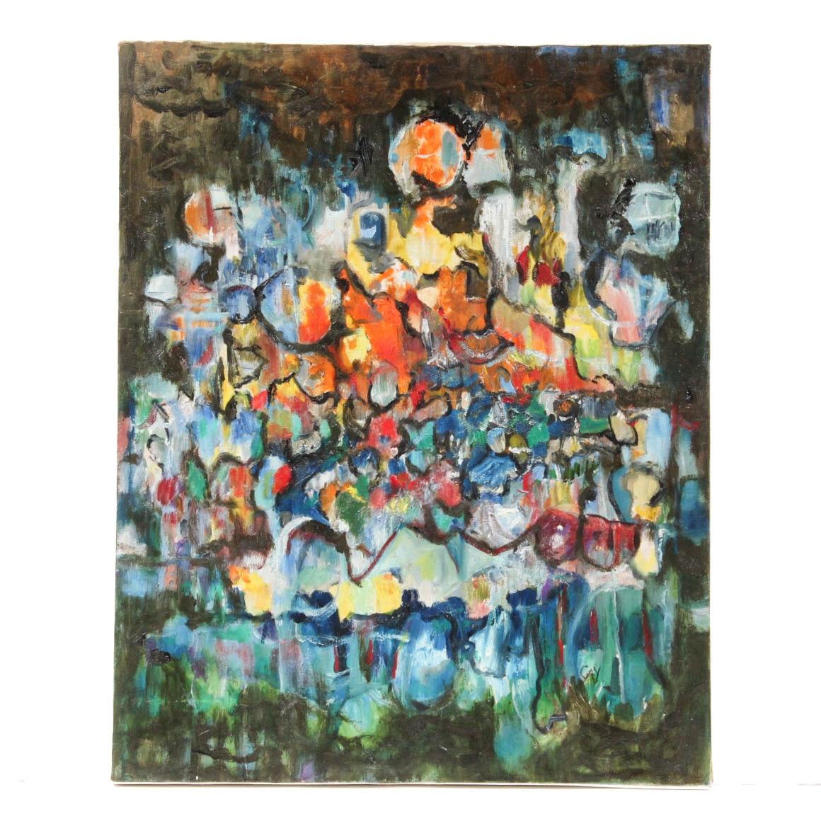 Gay Badenoch Abstract Acrylic Painting