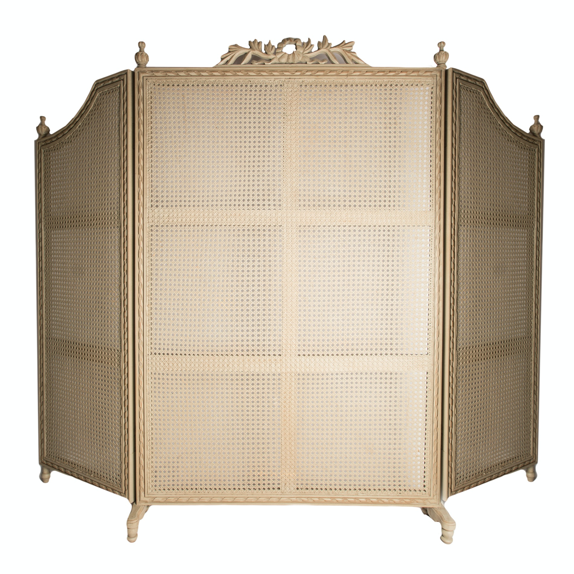 Vintage French Provincial Style Cane Room Divider EBTH