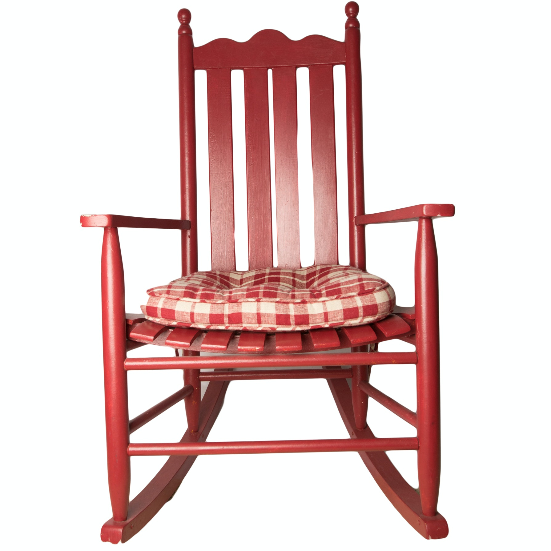 Red Painted Rocking Chair